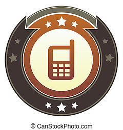 Cellphone imperial button - Cell phone or mobile contact...
