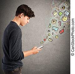 cellphone, leven, feitelijk