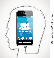 Cellphone - phone talking concept