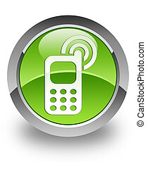 Cellphone ringing glossy icon - cellphone ringing icon on...
