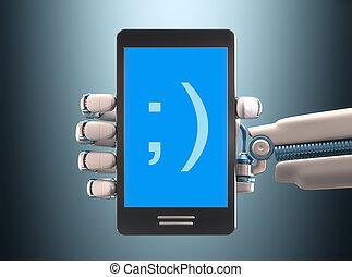 cellphone, robot