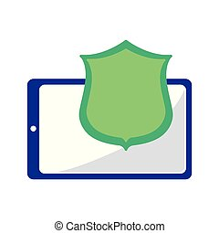 cellphone shield protection on white background