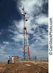 Cellphone Signal Tower - Abela Rock, Uganda, Africa