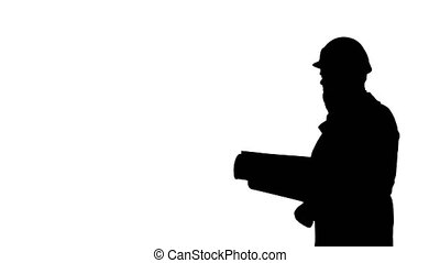 cellphone, silhouette, business, science, conversation, quoique, informatique, marche., engeneer, homme