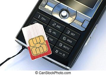 cellphone, sim, kaart