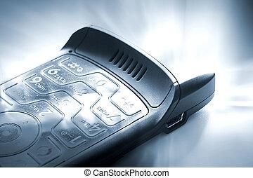 cellphone blue tone