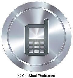 cellphone, sur, industriel, bouton