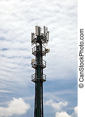 Cellphone Tower Portrait Format - Mobile phone tower against...