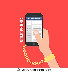 cellphone, vício, dispositivo