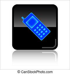 cellphone, web, icona