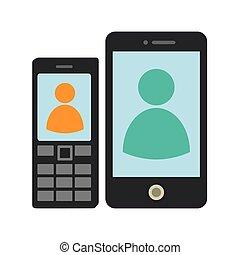 cellphones, jogo, tela, cobrança, botões, tech, toque
