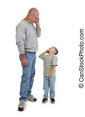 cellphones, ojciec, syn