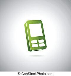 cellula, dolce, icona telefono