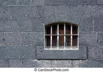 cellule, fenêtre, prison