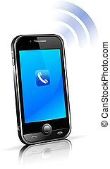 cellule, intelligent, téléphone portable, 3d