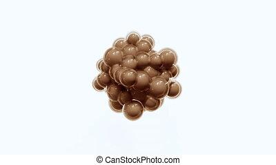 cellule, mitosis., 4k