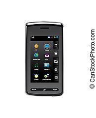 cellule, mobile, moderne, téléphone, technologie