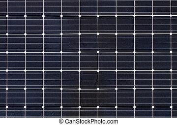 cellules, carrée, panneau solaire