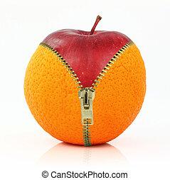 cellulite, 규정식, 향하여, 과일