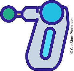 cellulite, contour, icône, vecteur, corps, massager, illustration
