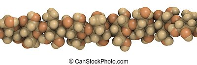 cellulose - chemical structure - detail of a strand of...