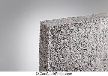 Cellulose insulation batt panel, made of recycled...
