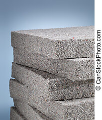 Cellulose insulation - Stack of cellulose insulation batt...