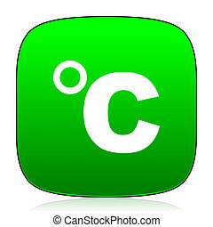 celsius green icon for web and mobile app