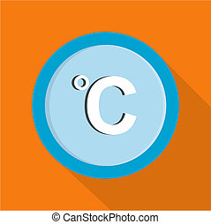Celsius icon, flat style