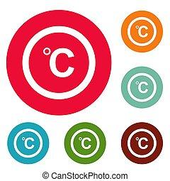 Celsius icons circle set