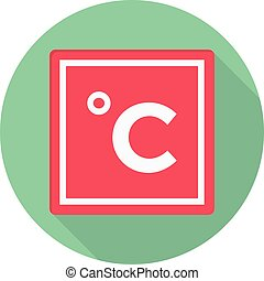celsius vector flat colour icon