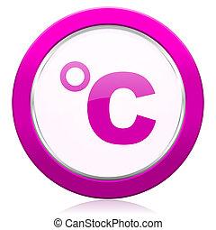 celsius violet icon temperature unit sign
