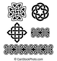 celta, irlandês, padrões, e, nó