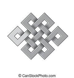 celta, irlandês, padrões, e, tranças, -, vetorial