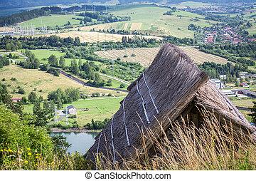 celta, moradia, havranok, -, eslováquia, antigas