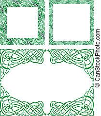 celta, ornamento, fronteiras