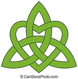 celta, trindade, nó, (triquetra)