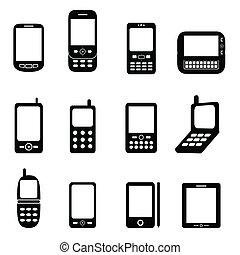 celtelefoons, gevarieerd