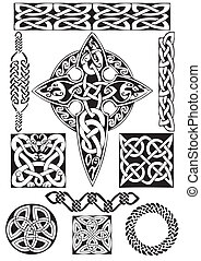 Celtic art-collection. - Celtic vector art-collection on a ...