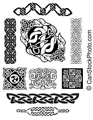 Celtic art-collection. - Celtic vector art-collection on a...