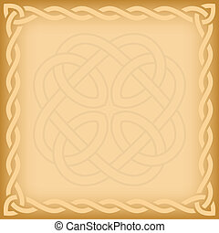 Celtic background with twisted frame and ornament watermark