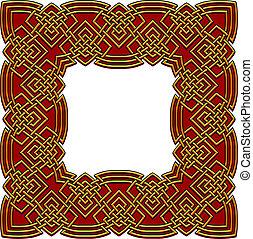 celtic border colored