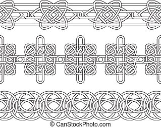 Celtic border seamless stencil set