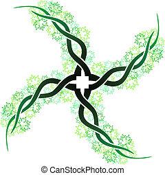Celtic branch cross
