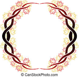Celtic branch ring - Ornate vector frame of celtic branches...