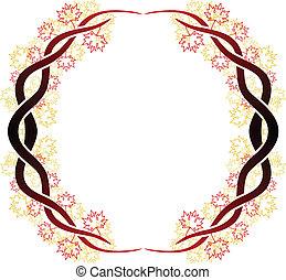 Celtic branch ring - Ornate vector frame of celtic branches...