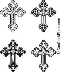 Celtic Cross - A group of ornate Celtic cross designs.