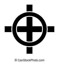 Celtic cross icon on white background. Vector illustration.