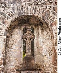 Celtic Cross in Irish Castle