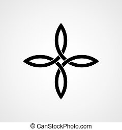 Celtic cross knot. Vector